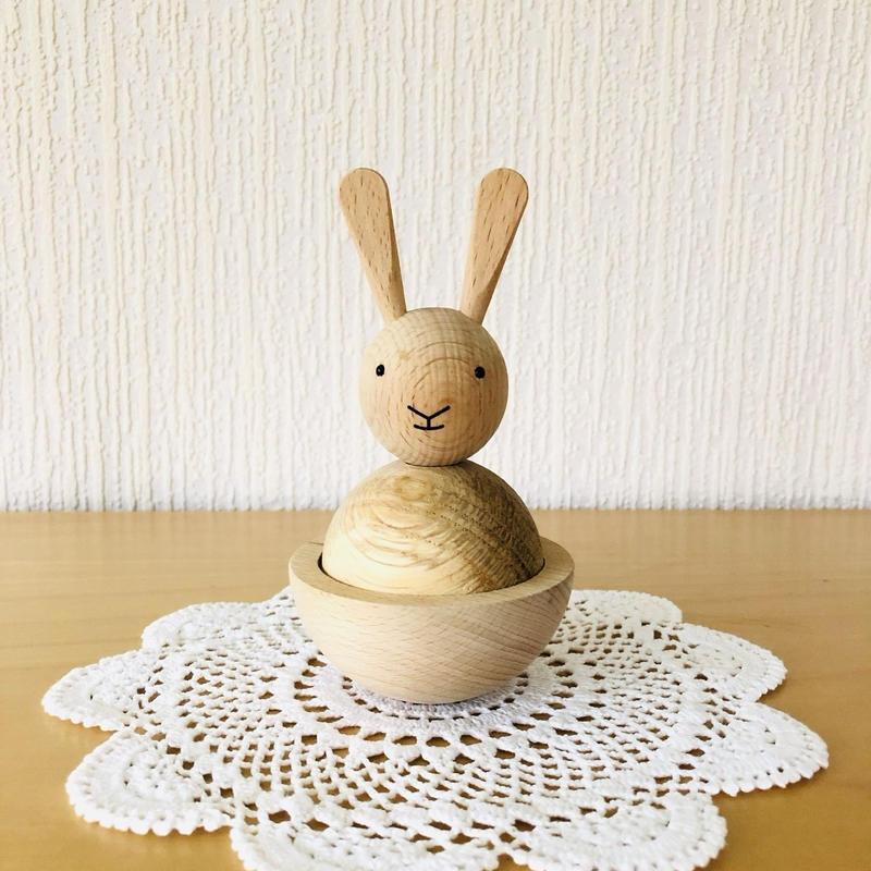 ウサギさんのフィギュア/木製/OYOY/オイオイ