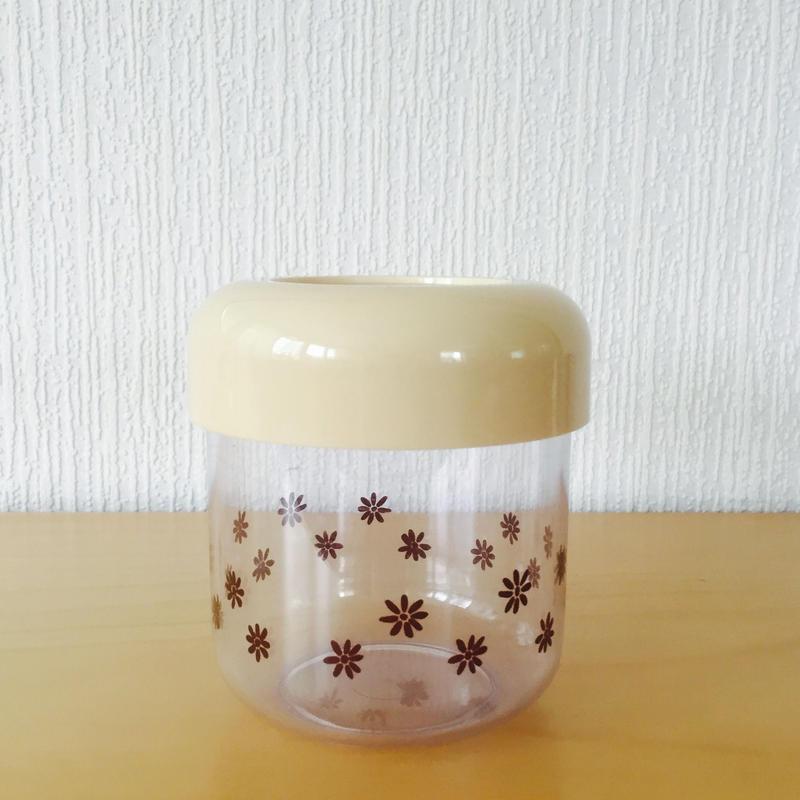 キャニスター/花柄プラスチック/フィンランド製