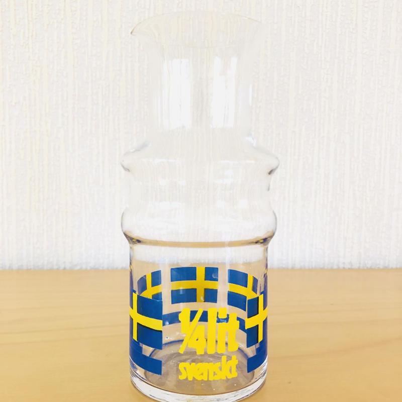 スウエーデン国旗/ガラスの水差し/250ml