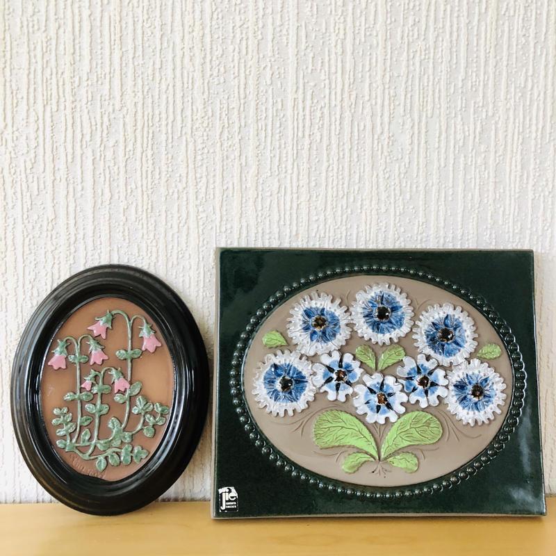 Jie Gantofta/ジィガントフタ/GABRIEL/ガブリエル/陶板/ブルーの花束とリネアのお花柄