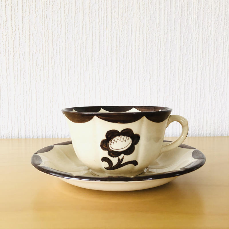 Gustavsberg/グスタフスベリ/Pyro/ピューロ/テイーカップ&ソーサー/A.H様 買い付け品