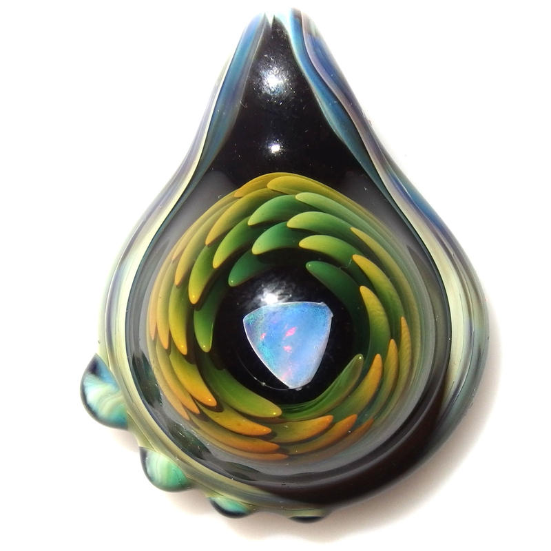 [ATP-03] asymmetry tornado opal pendant