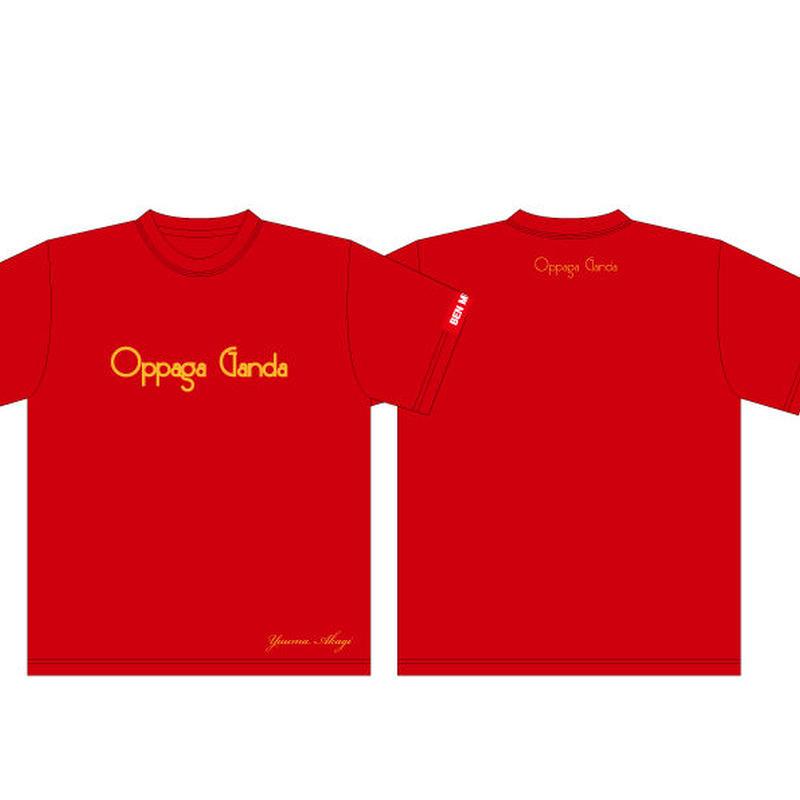 赤木悠真Oppaga Ganda応援Tシャツ(赤)