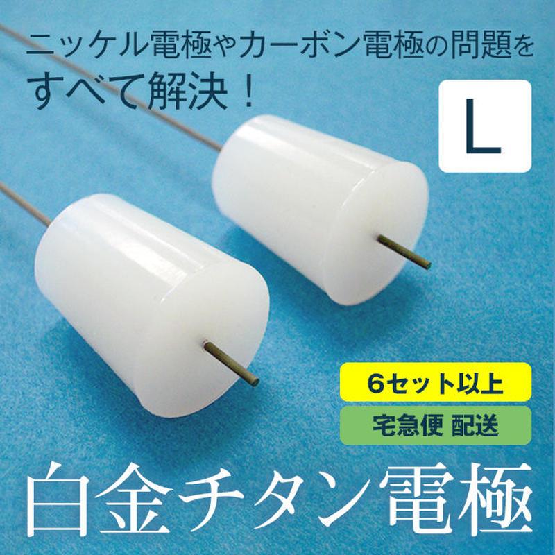 【6セット以上のご注文】白金チタン電極/Lサイズ (2本入)