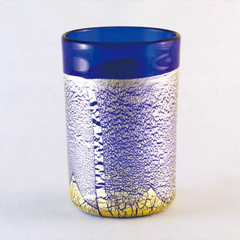 銀彩タンブラー(青)