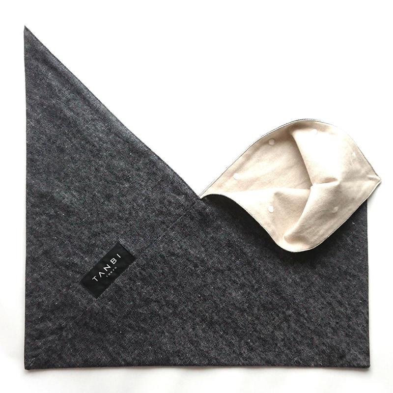 リバーシブルあずま袋 DENIM×DOT/BLACK
