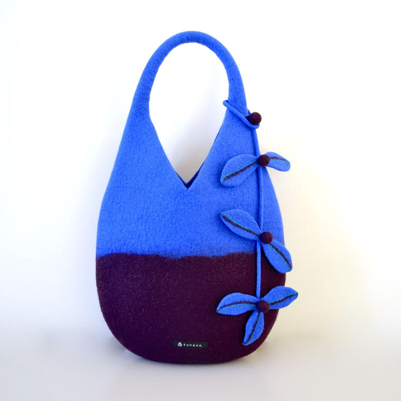 tree nuts bag ♪dark red purple & blue