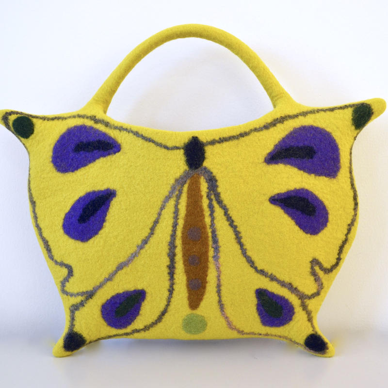 Butterfly bag♪mustard yellow