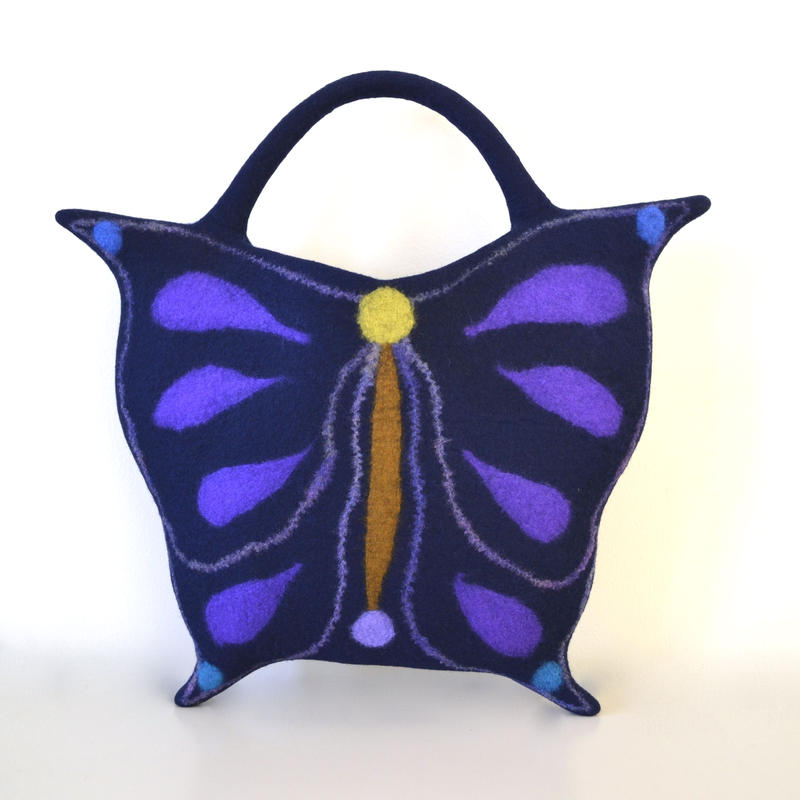 Butterfly bag♪ dark blue