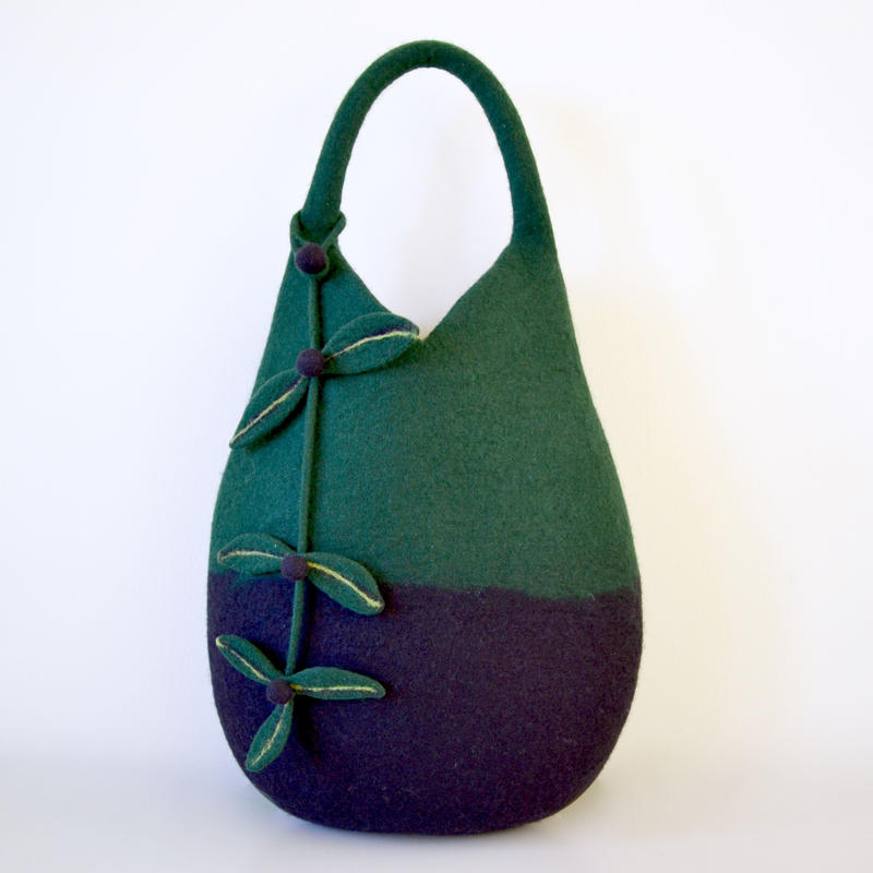 Tree nuts Bag♪ black & dark green