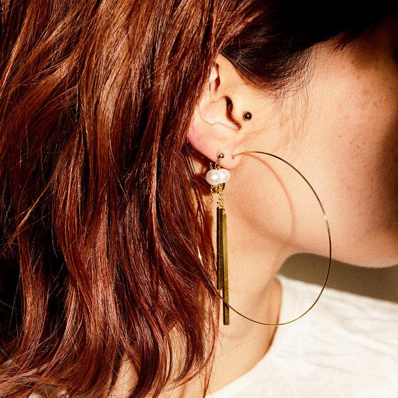 prismatic circle earrings