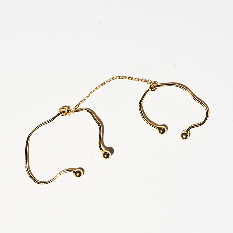stem line chain cuffs /0101