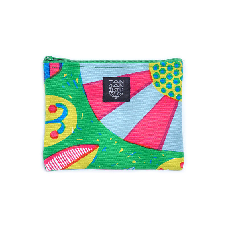 odekake POUCH 「うずまきフラワー」green
