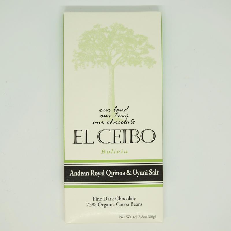 EL CEIBO Bolivia  キヌア & ウユニ塩湖産ソルト チョコレート 80g