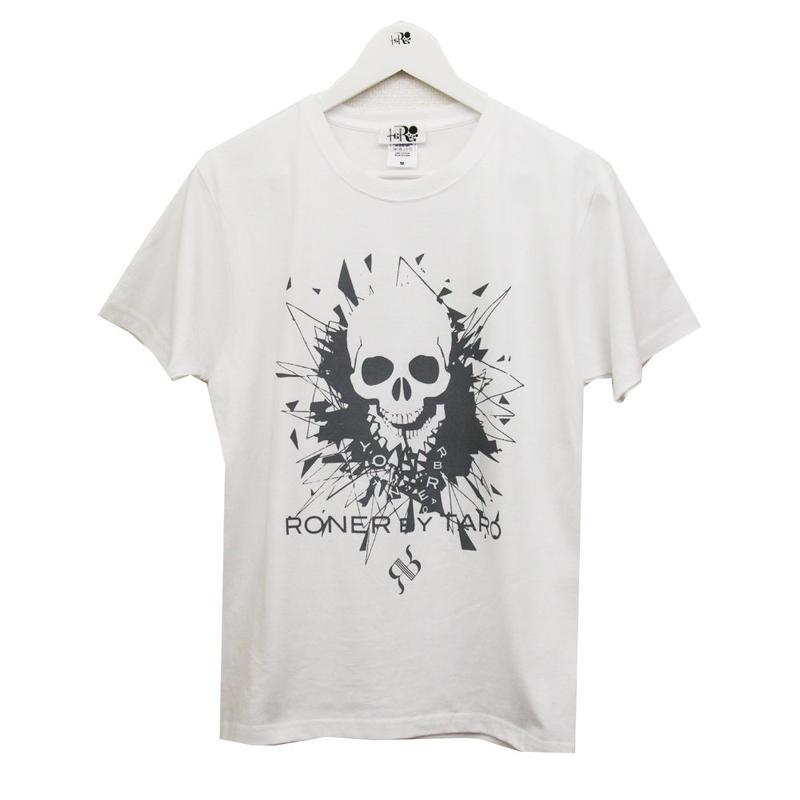 RONER  GLASS  JAW  T-shirt  Vol.3  WHITE x GRAY