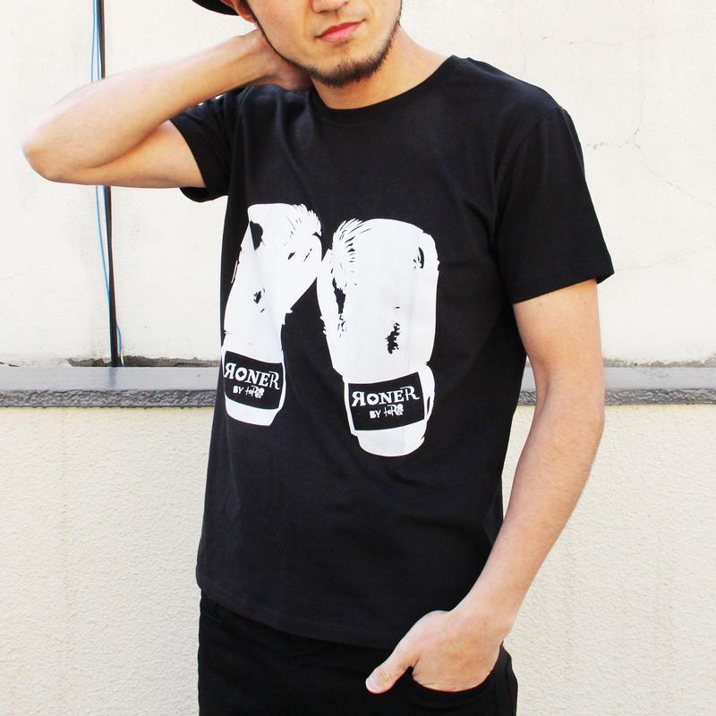 RONER  グローブTシャツ BLACK