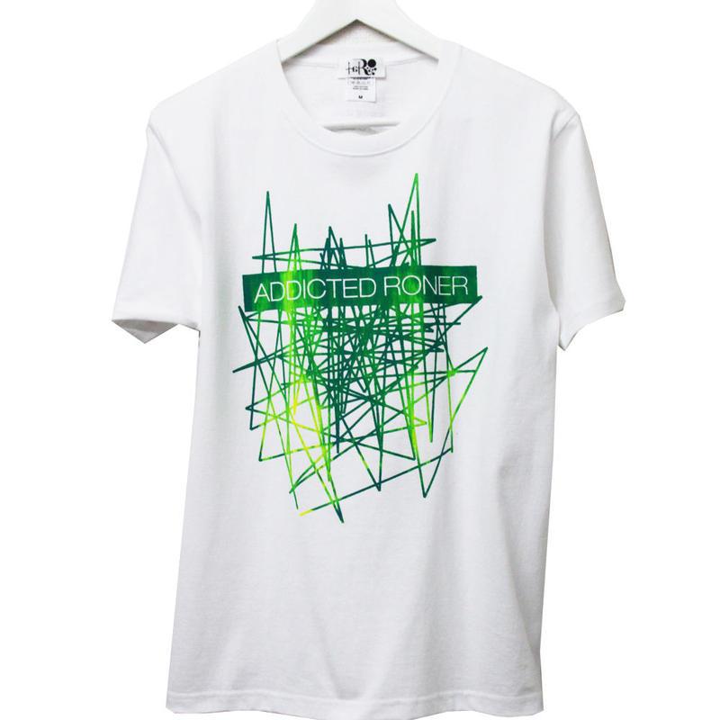 ADDICTED RONER   t-shirt   WHITE