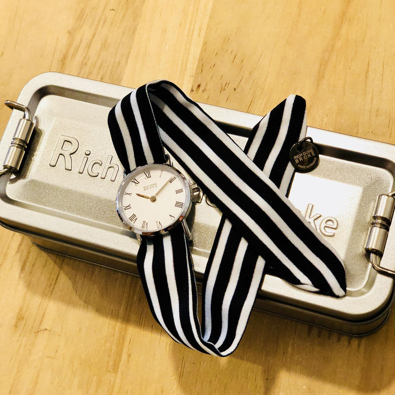 Rich Gone Broke (Silver MS Case - BK Stripe Liberty Strap)