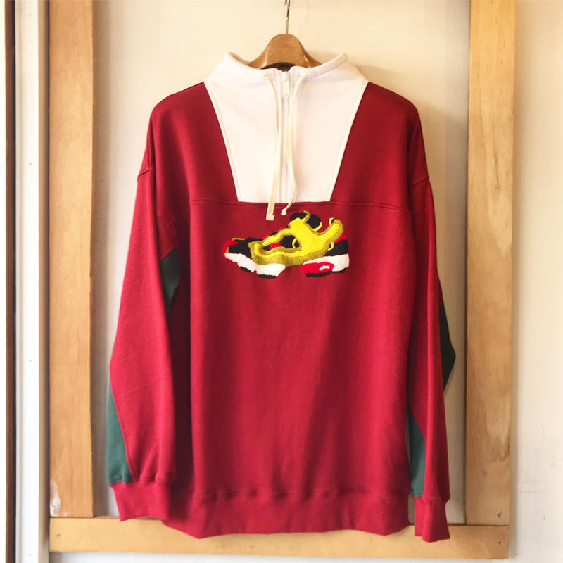 O.K.     PUMP  HALF ZIP   P/O SWEAT      MAROON MIX