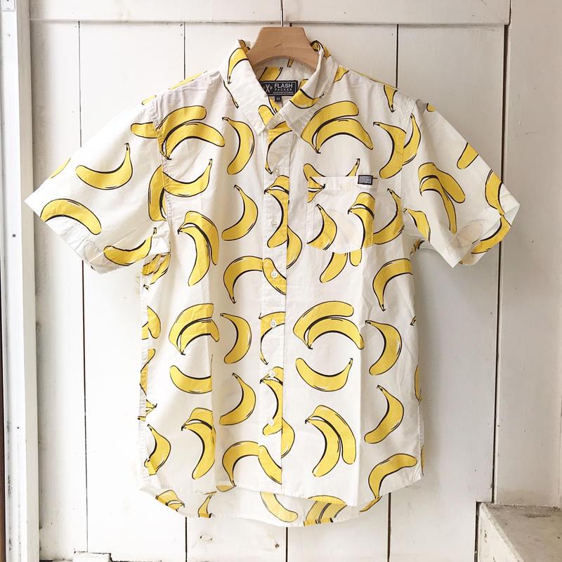 FLASHPACKER   BANANA ウオッシュドS/Sシャツ