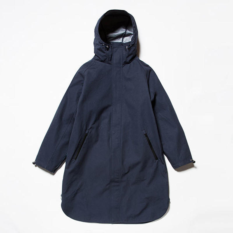 meanswhile    3 Layer Ventile Poncho Coat     NAVY