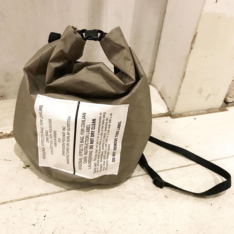 BURLAP OUTFITTER   PERSONAL EFFECT BAG