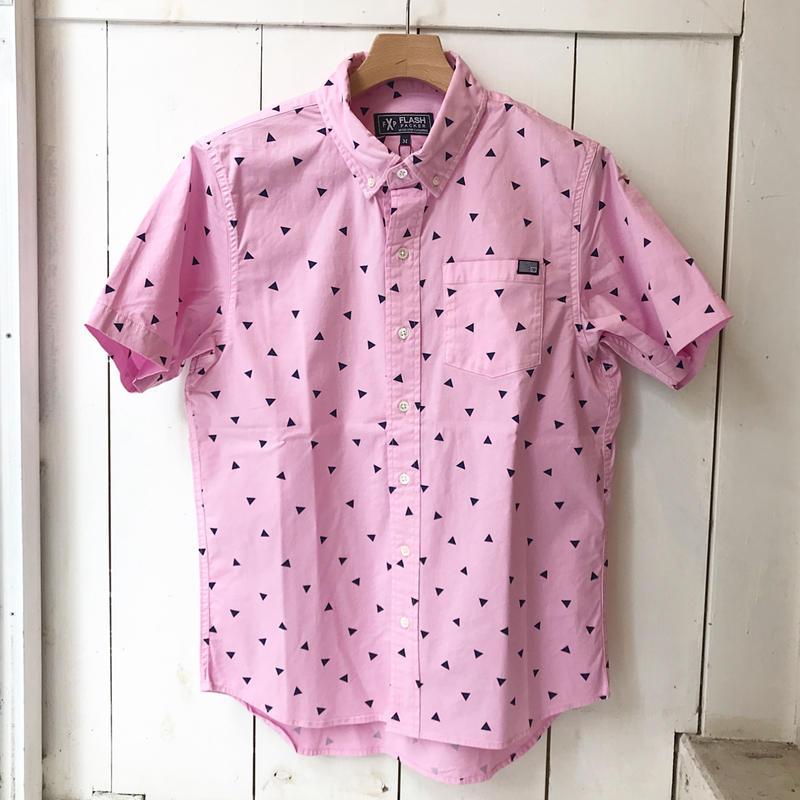 FLASHPACKER ガーメントダイS/Sシャツ PINK