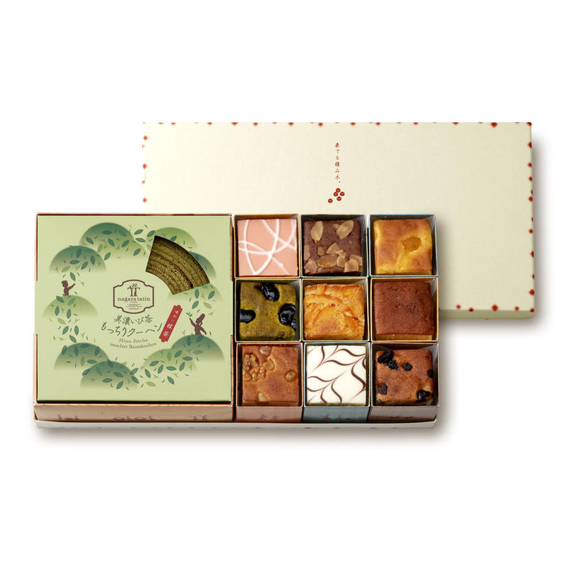 美濃いび茶もっちりクーヘン[抹茶]&奏でる積み木9個セット
