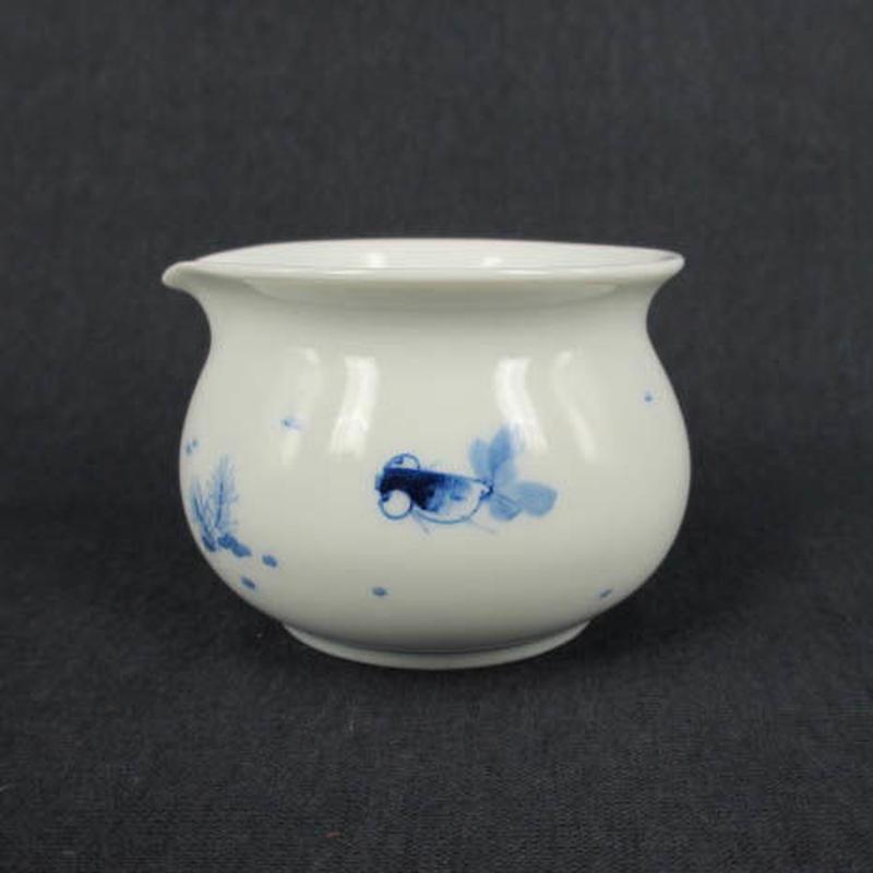 青花金魚茶海
