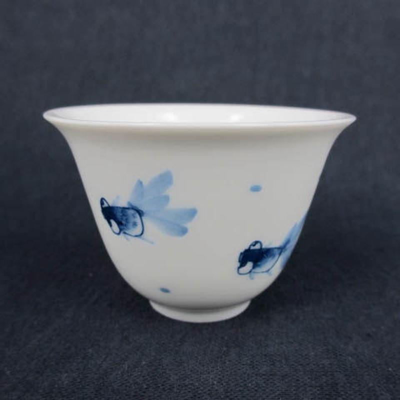 青花金魚玉蘭杯