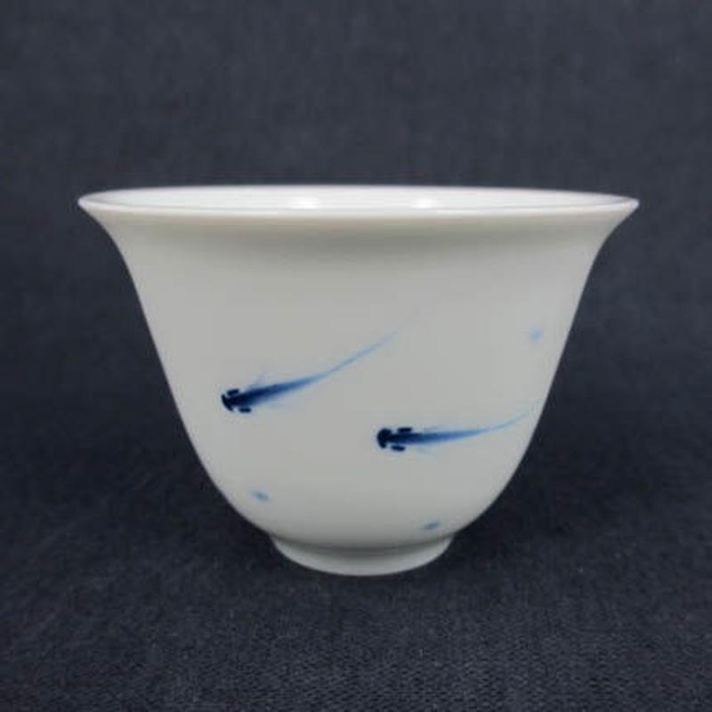 青花小魚玉蘭杯