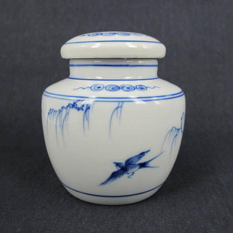 竹君雙燕茶缶