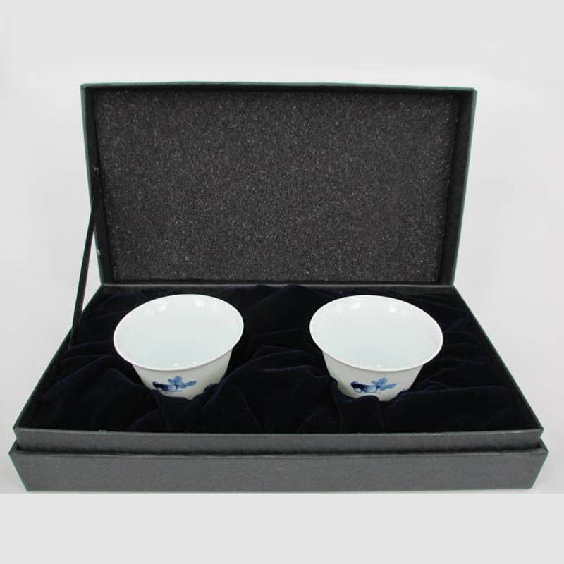 青花金魚玉蘭杯2個セット