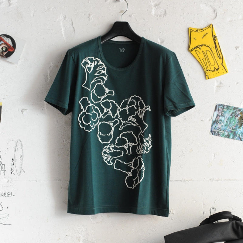 ★ ohta (オータ) / DARK GREEN BROCCOLI T SHIRTS ★