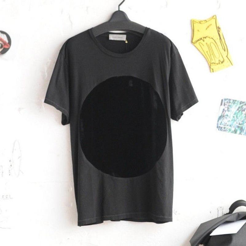 ★ CORRELL CORRELL (コレルコレル) / VELVET CIRCLE T SHIRTS  (BLACK/SIZE / L) ★