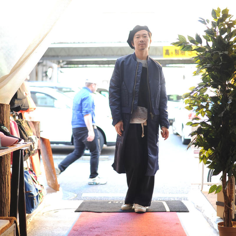 ★ ohta (オータ) / NAVY LONG NYLON JUMPER ★