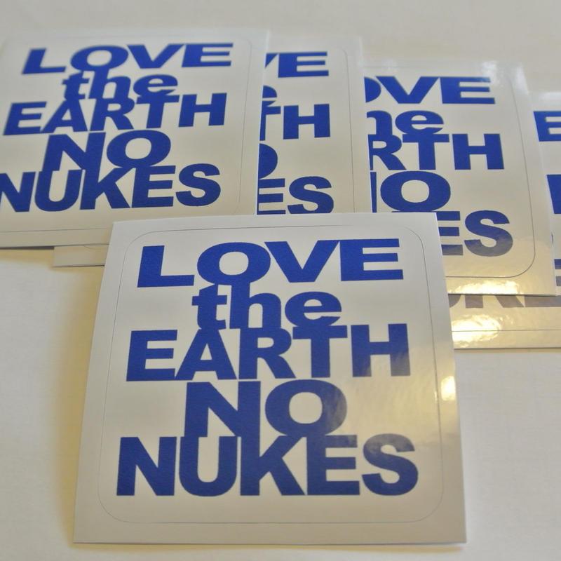 LOVE the EARTH NO NUKES ステッカー(5枚1組)