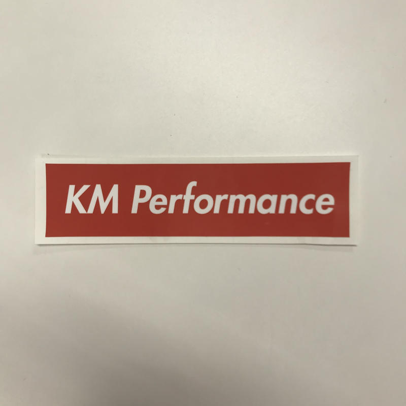 KM Performance BOX Sticker Red [kmstred]