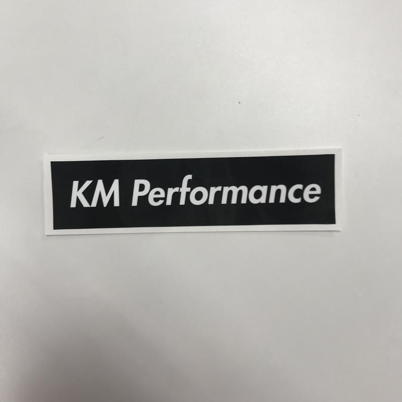 KM Performance BOX Sticker Black [kmstbk]