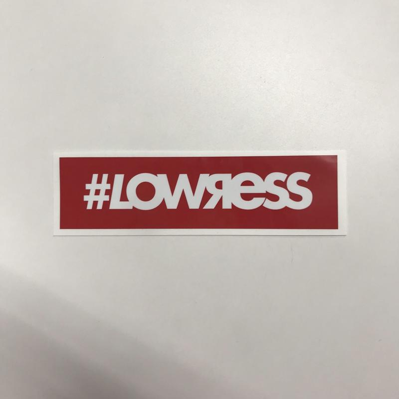 #LOWЯESS BOX Sticker Red [#stred]