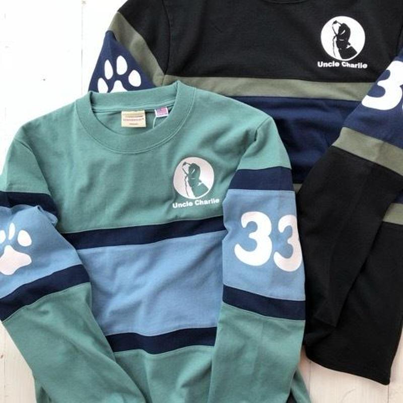 ボーダー切替L/STシャツ33:B