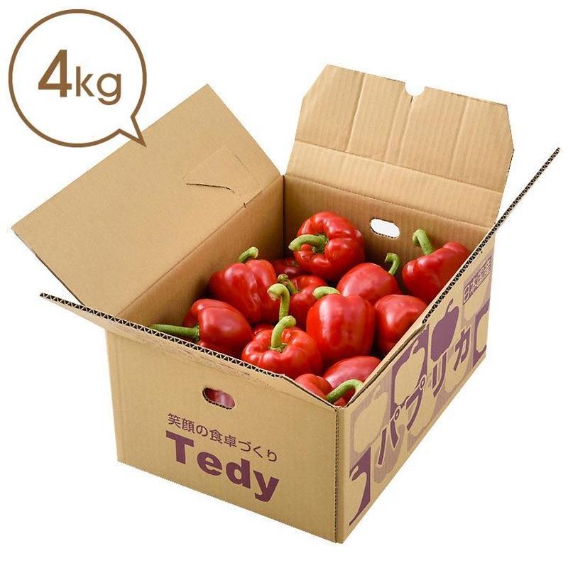 Tedyのパプリカ(赤)4kg詰め