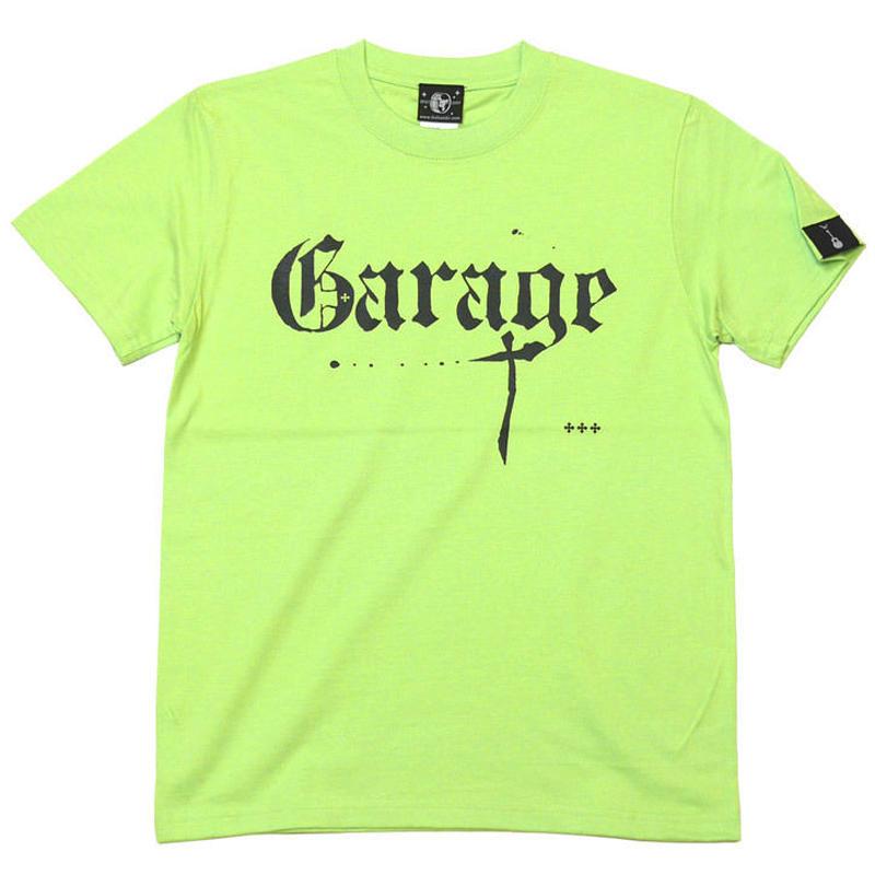 sp043tee-lm - Garage(ガレージ) Tシャツ (ライムグリーン)-G- ロックンロール バンド 音楽 緑色 半袖