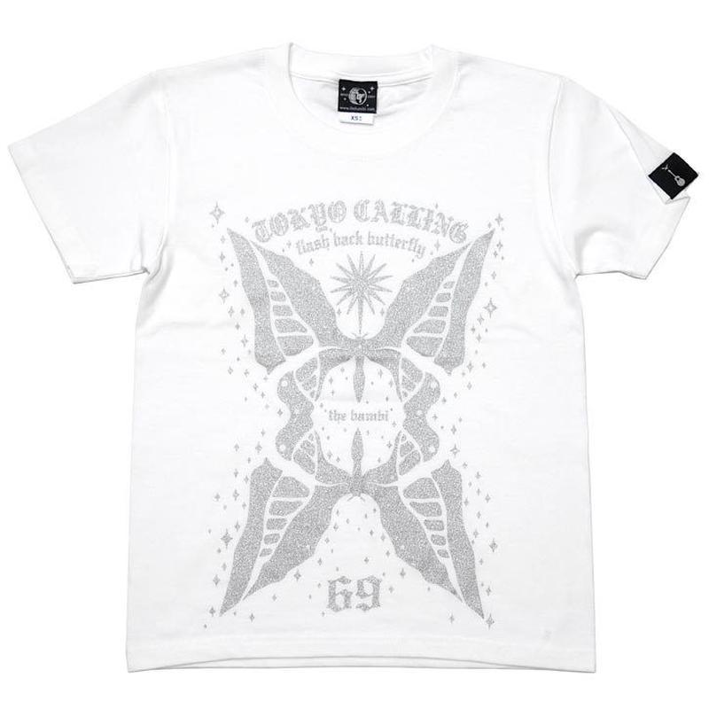 特別プライス☆ sp010tee-wh - butterfly Tシャツ (ホワイト)-G- 半袖 白色 バタフライ ちょうちょ カジュアル