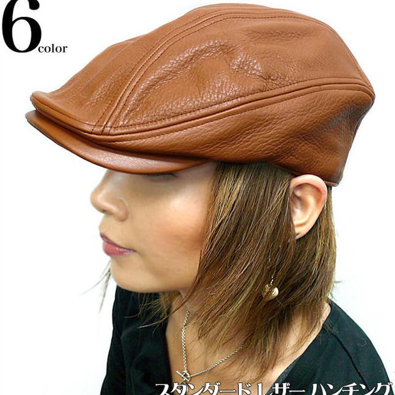 squ5191 - スタンダード レザー ハンチング - HATENA -G-( 帽子 ぼうし カジュアル モード )