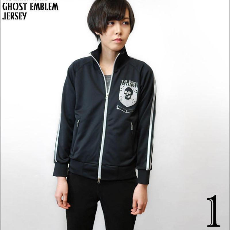 tgw042jy - Ghost Emblem (ゴースト エンブレム) ジャージ -G- ドクロ スカル ロック パンク アメカジ カジュアル ブルゾン