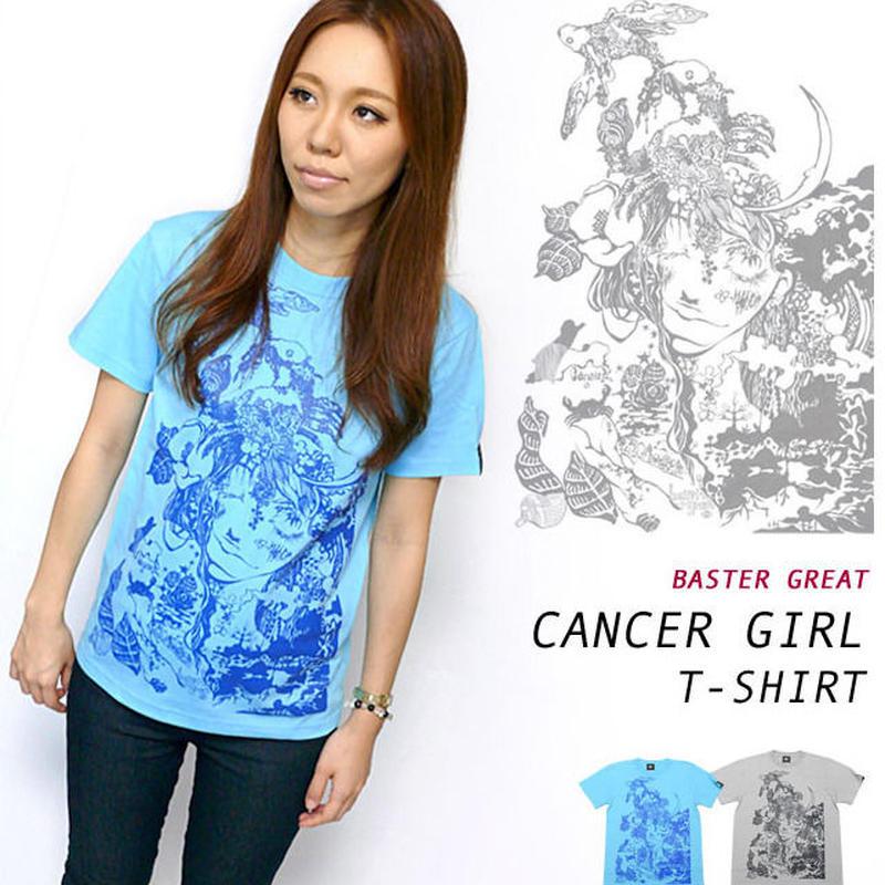 夏セール!! bg012tee - 蟹座 ガール( Cancer Girl )Tシャツ -G- かに座 ギリシア神話 星座 神話 コラボT