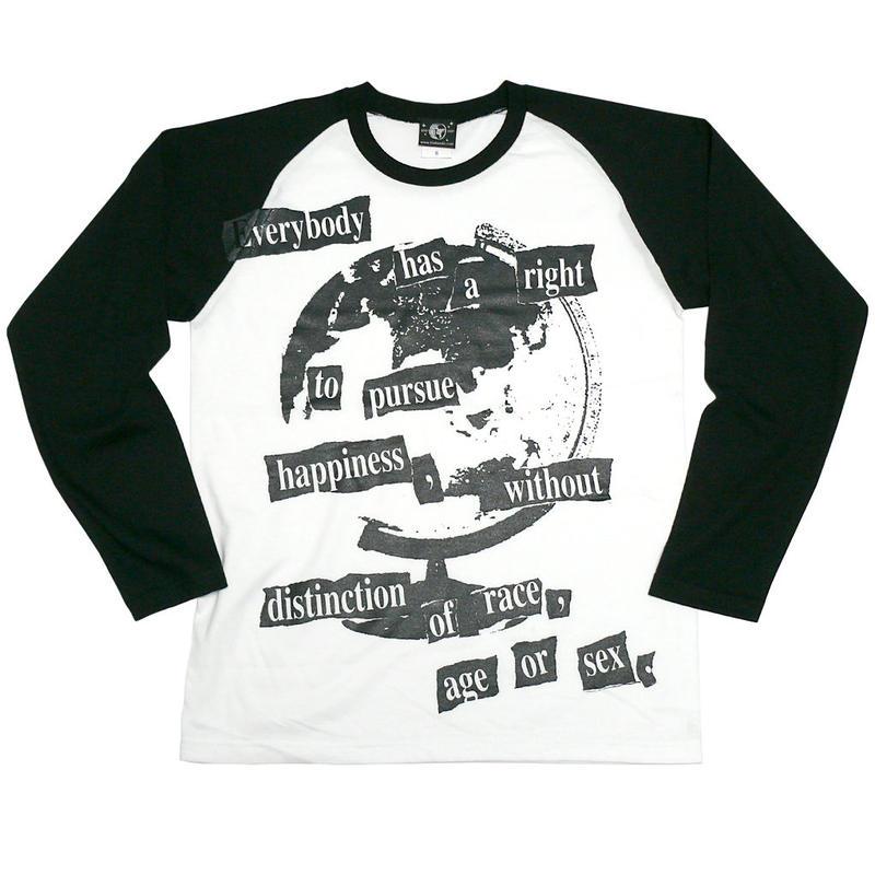 hw004rglt - Happiness(ハピネス)ラグランロングスリーブ -G- 長袖 ロンT パンク ロックTシャツ メッセージ メンズ レディース