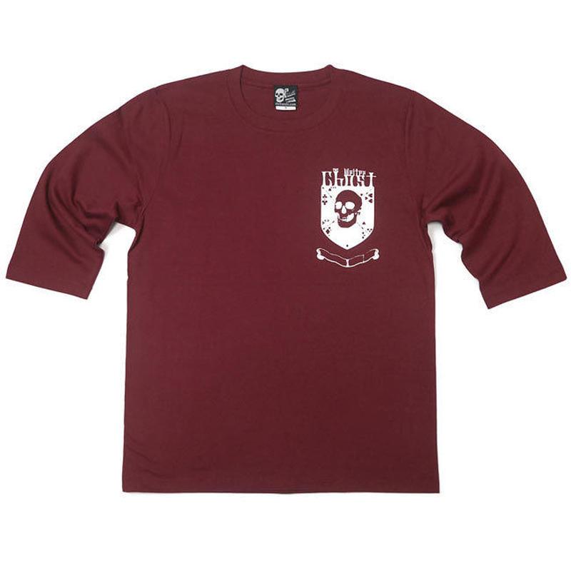 tgw042hst - Ghost Emblem (ゴースト エンブレム) ハーフスリーブ Tシャツ -G- ドクロ スカル ロック アメカジ 5分袖 ブラウン