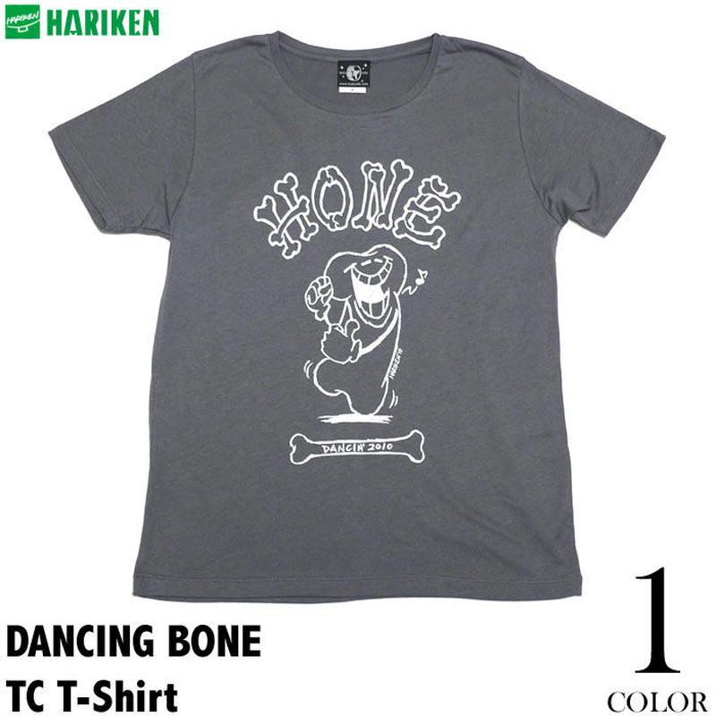 廃盤(在庫限り) har005tc - DANCING BONE (ダンシング ボーン) TC Tシャツ - HARIKEN -G- カレッジ プリント ダンス 半袖
